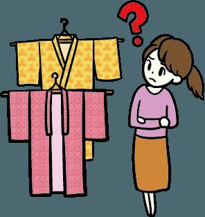 服選びで困っている女性 (Before)